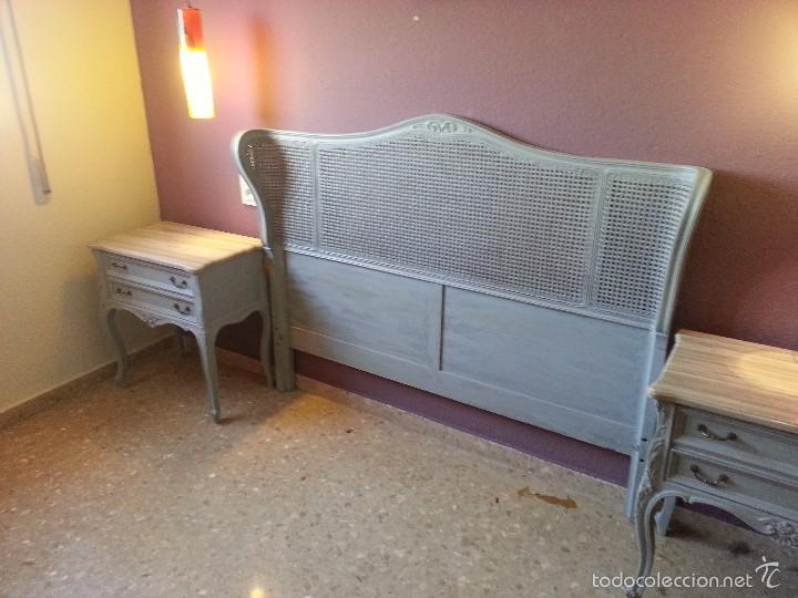 cama y mesitas estilo reina ana restauradas - Comprar Camas Antiguas ...