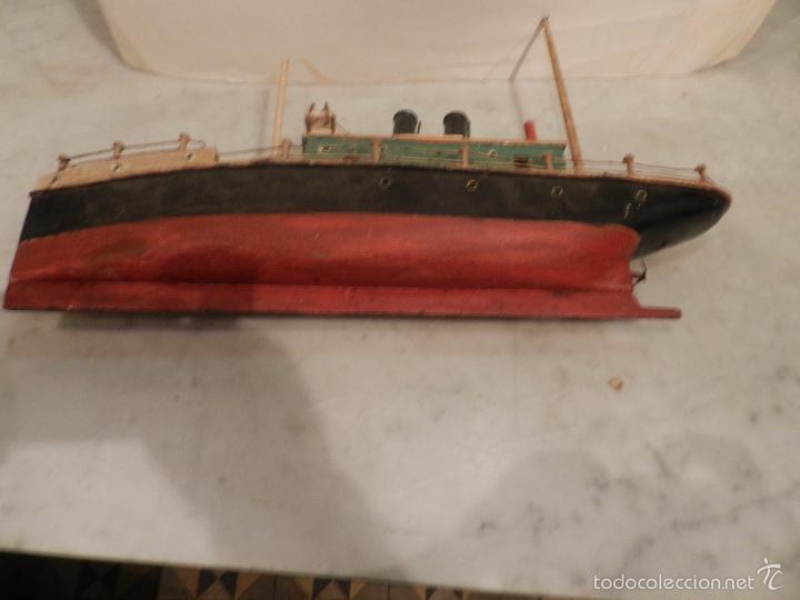 M juguetes antiguo barco de madera y metal comprar - Juguetes antiguos de madera ...