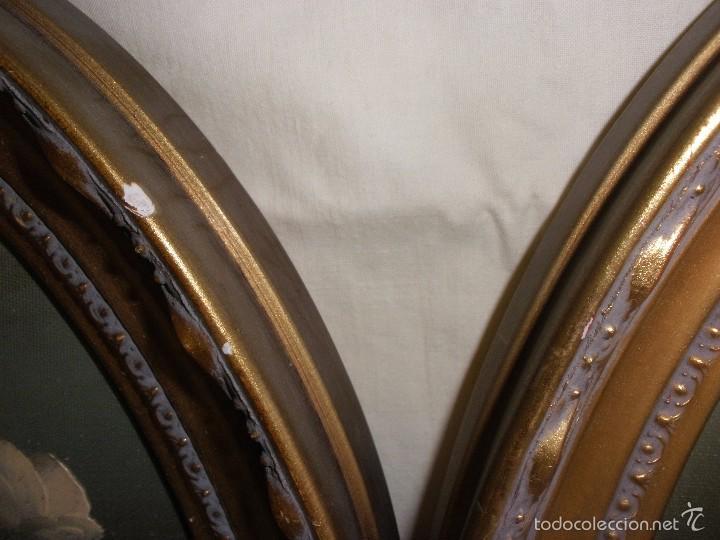 Cuadros de madera ovalados con oleo flores firm comprar - Cuadros online espana ...