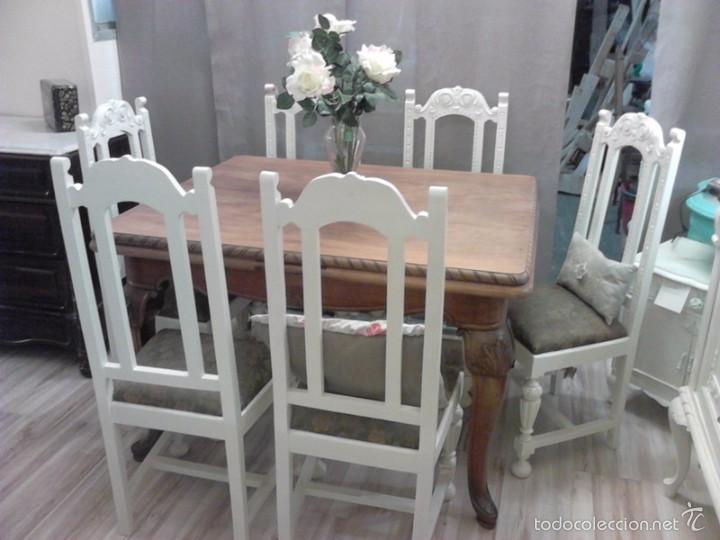 Sillas 6 de nogal antiguas restauradas comprar sillas - Sillas antiguas restauradas ...