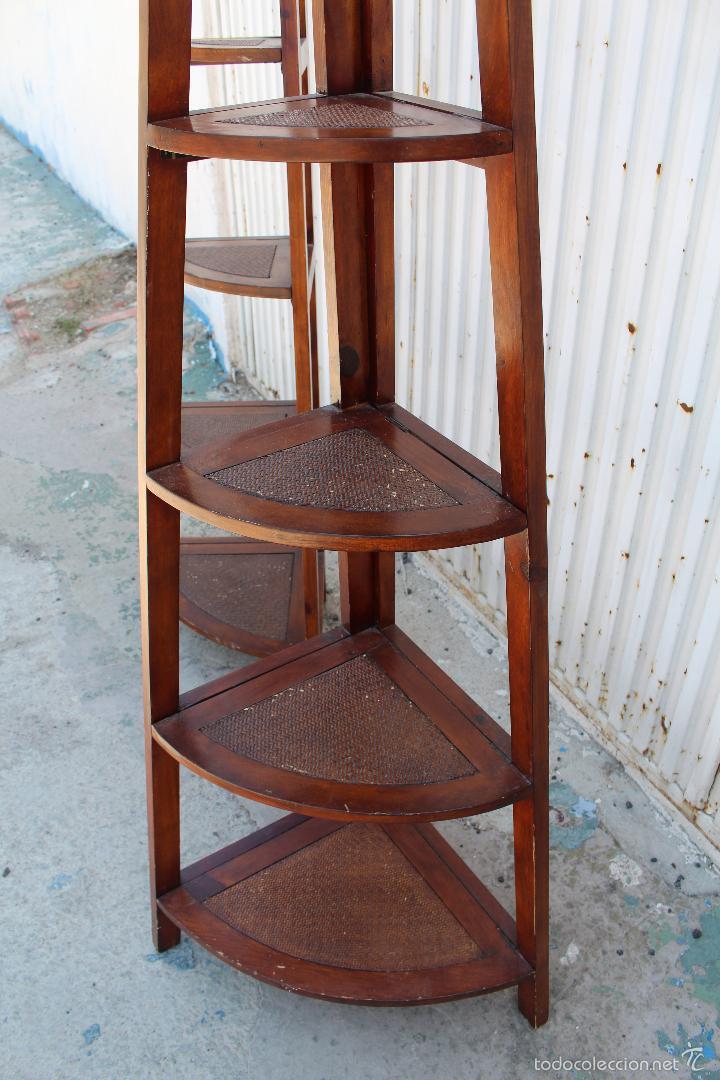 2 estanterias rinconeras en madera de palosanto comprar - Rinconeras de madera ...