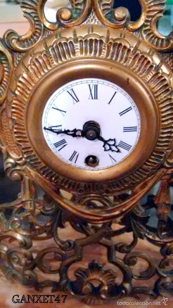 Reloj sobremesa bronce carga manual con pie de comprar - Relojes de sobremesa antiguos ...
