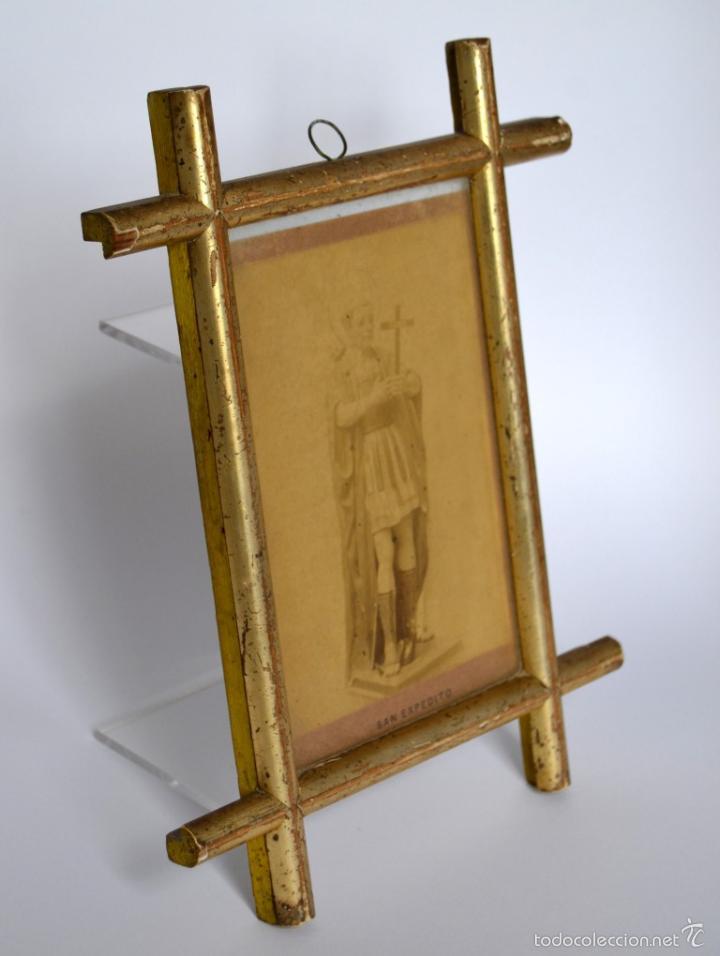 san expedito * oracion * antiguo marco dorado * - Comprar ...