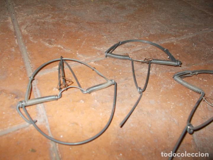 3 cepos trampas o costillas sin uso comprar caza antigua - Cepos para ratas ...