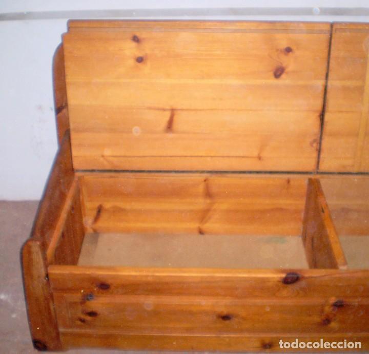 Arcon en madera de pino maciza comprar for Banco arcon madera