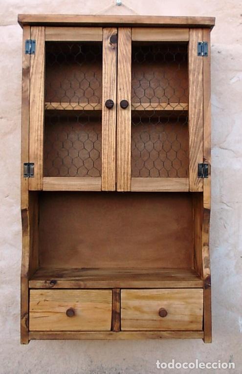 Mueble especiero o alacena de madera vintage comprar for Envio de muebles