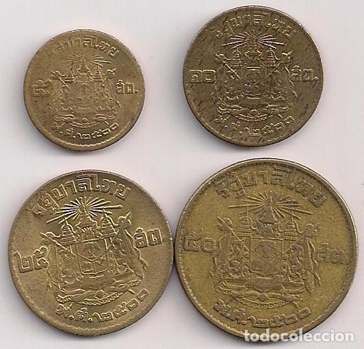 Tailandia Serie De 4 Monedas 5 10 Satang Y 1 Comprar Monedas