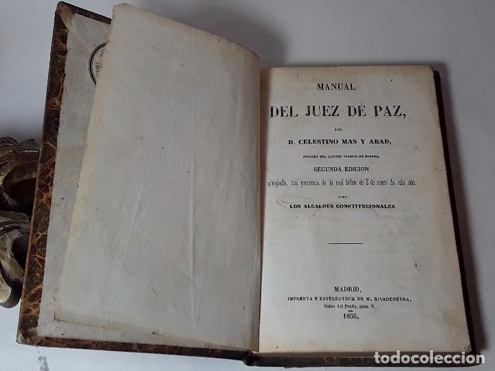 Manual del juez de paz 1856 celestino mas y a comprar libros.