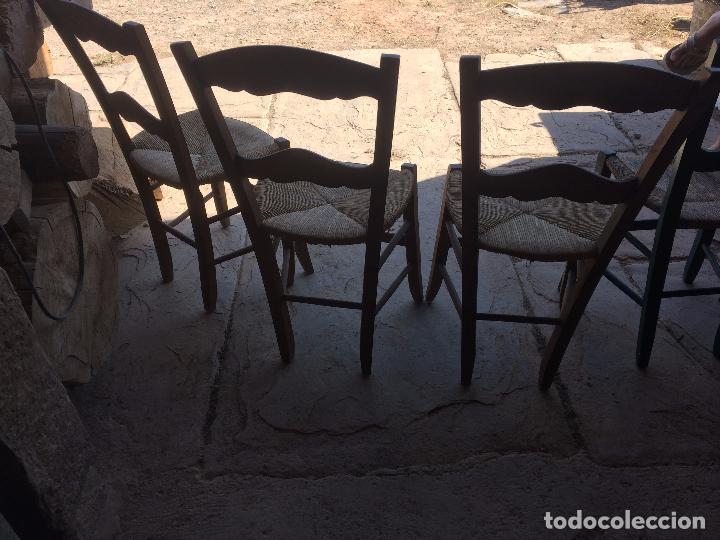 Antiguas 7 silla sillas de boga con respaldo comprar for Sillas comedor antiguas