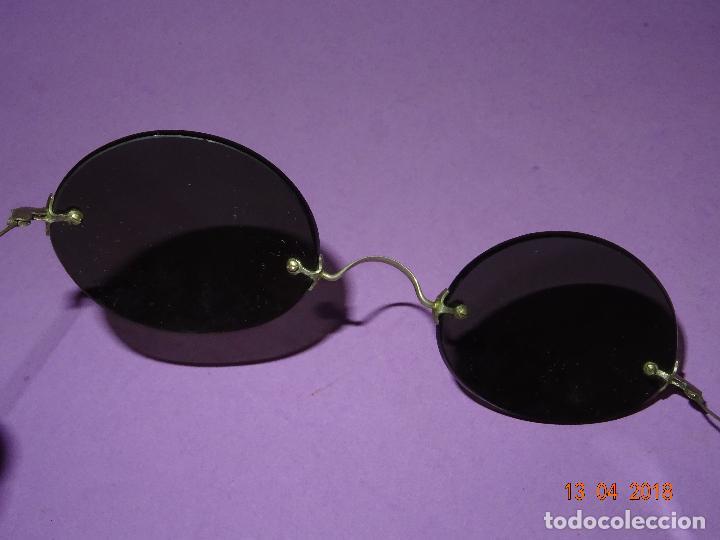 antiguas gafas de sol sin montura y con patilla - Comprar Gafas ...
