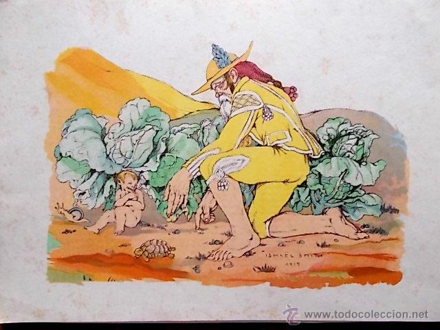 Dibujo Litografía de Ismael Smith sobre el cuento Cabeza de pato