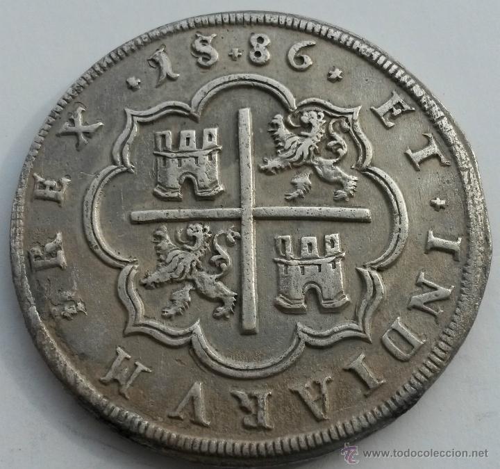 Moneda 8 reales Felipe II