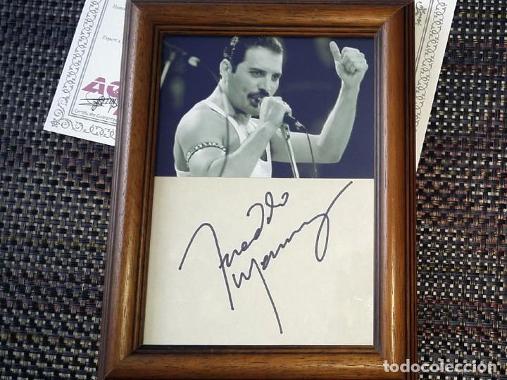 Autógrafo de Freddie Mercury