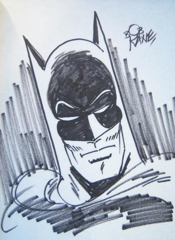 Dibujo original de Batman firmado por Bob Kane