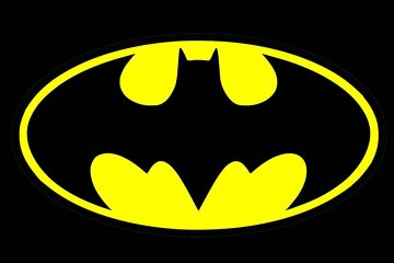Logo amarillo de Batman