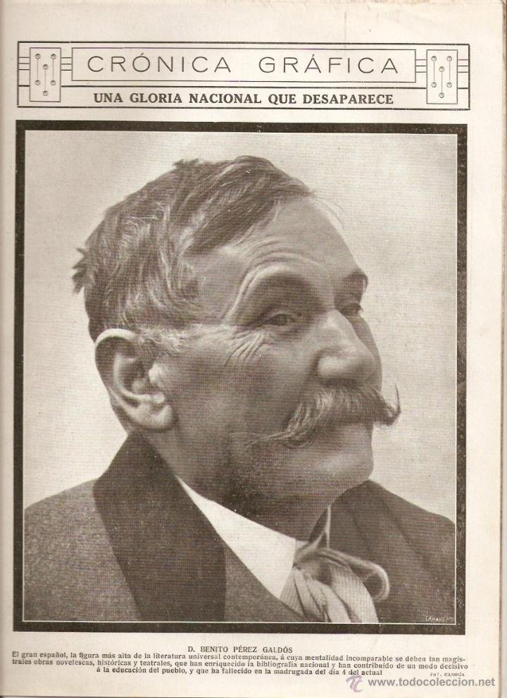 Muerte de Benito Pérez Galdós