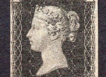 Sello de la Reina Victoria, Penny Black (1840)