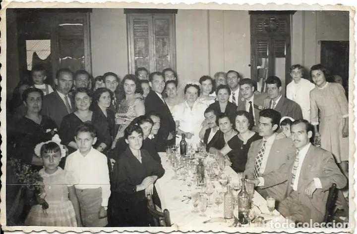 Postal del banquete de una boda antigua