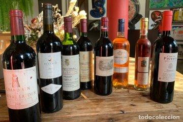 Colección de botellas de vino
