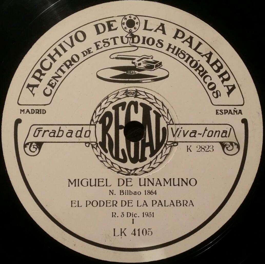 Archivo de la Palabra Miguel de Unamuno