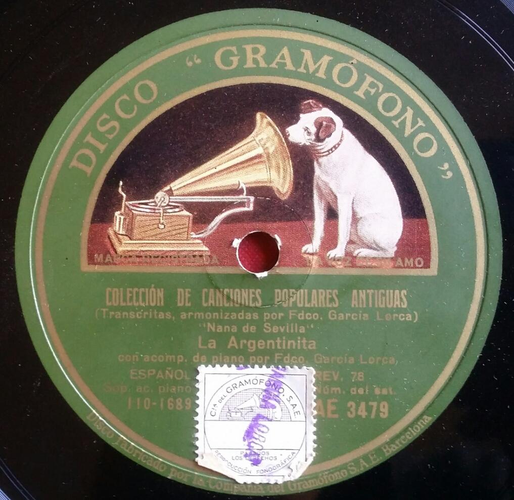 Disco Gramófono - Colección Carlos Martín Ballester