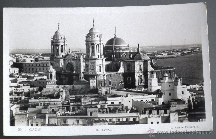 Postal de la catedral de Cádiz