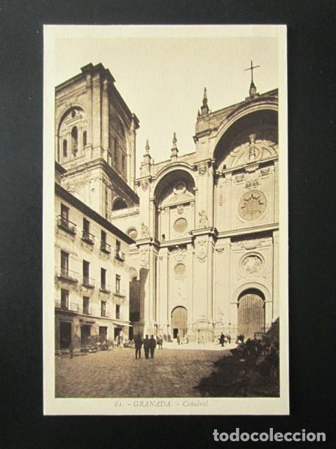 Postal de la catedral de Granada