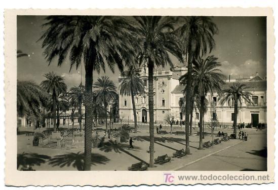 Postal de la catedral de Huelva