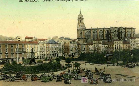 Postal de la catedral de Málaga