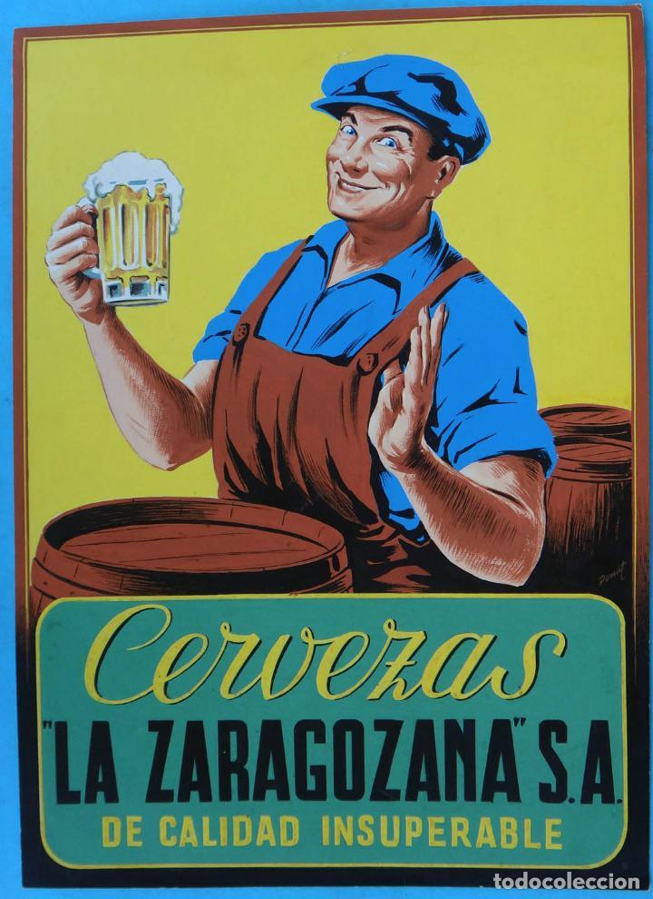 Cartel de Cervezas La Zaragozana