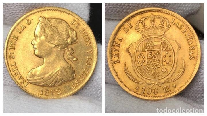 Cien reales en oro de Isabel II