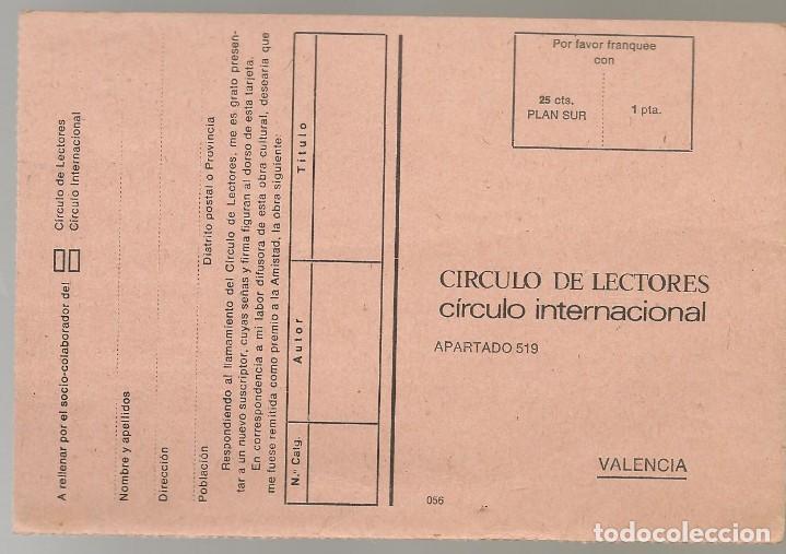 Postal del Círculo de Lectores