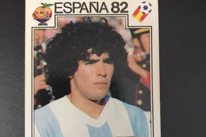 Cromo de Maradona España 82