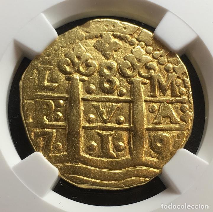 Moneda 8 escudos de oro de Felipe V