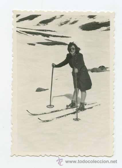 Esquiadora antigua