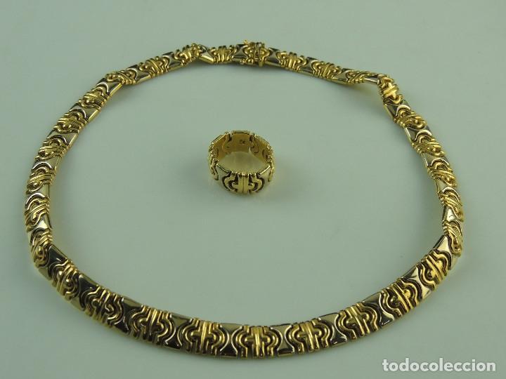 Subasta Extra Navidad: collar y anillo de oro
