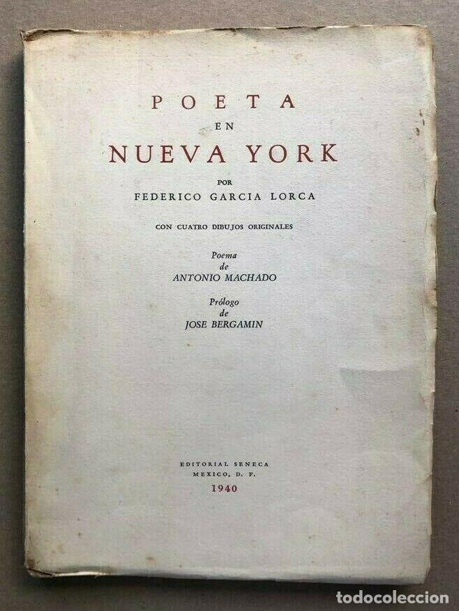 Primera edición de Poeta en Nueva York