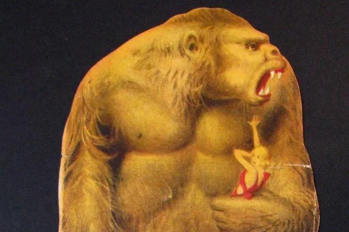 Folleto de mano troquelado de King Kong