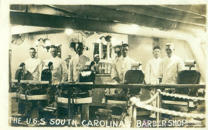 Fotografía de barbería antigua USA