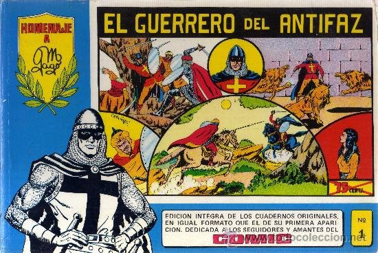 Guerrero del Antifaz homenaje a M Gago