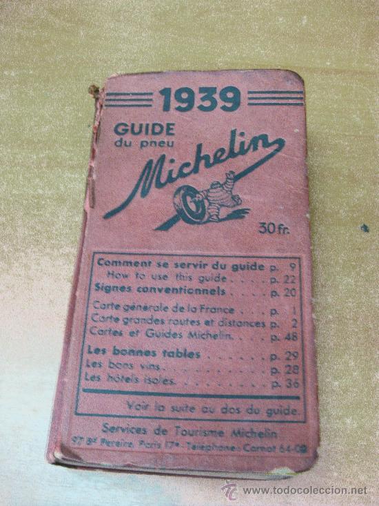 Guia Michelín Francia 1939