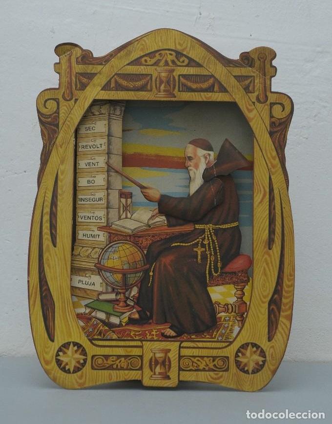 Antiguo hombre del tiempo catalan higrómetro el fraile