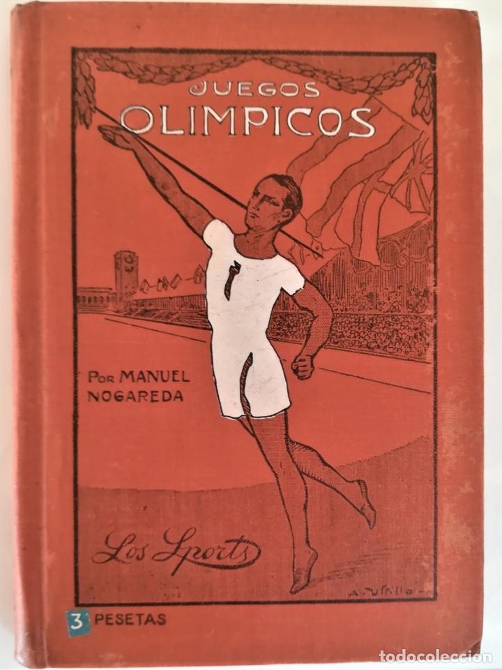 Libro antiguo sobre los Juegos Olímpicos