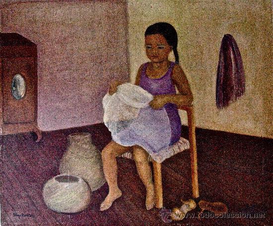 Niña descalza de Diego Rivera