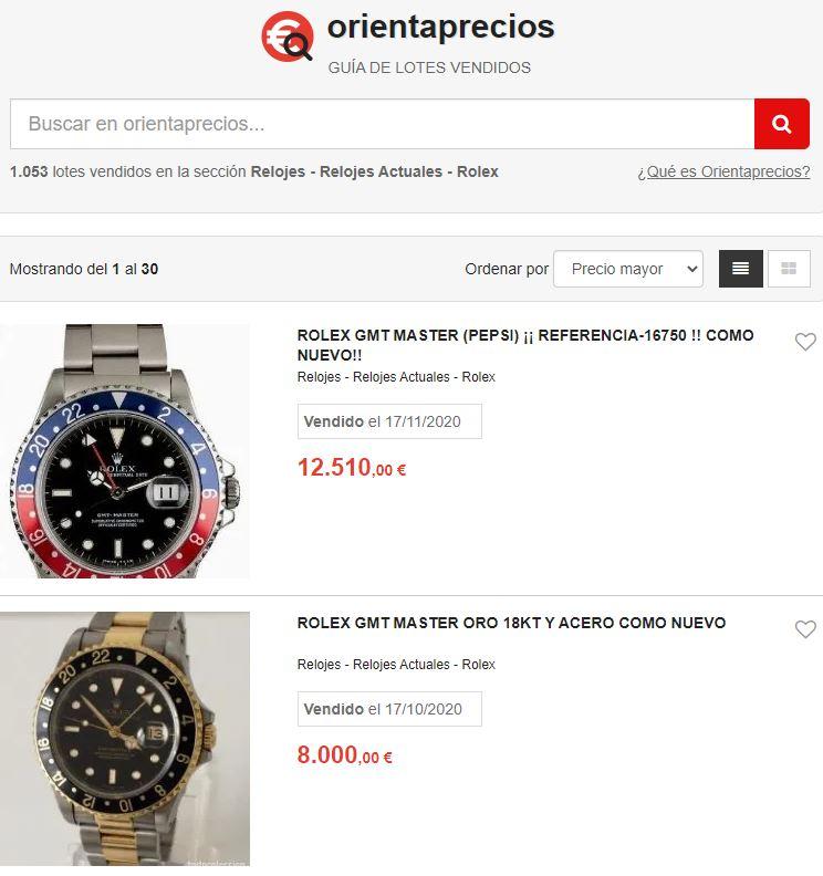 Orientaprecios relojes Rolex