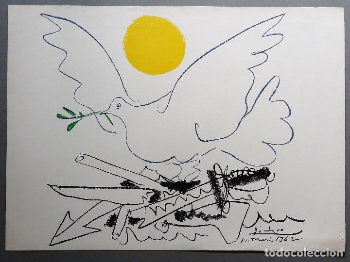 Litografía de Pablo Picasso, paloma