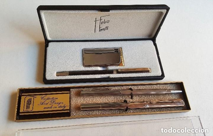 Bolígrafo con mechero y pluma estilográfica vintage