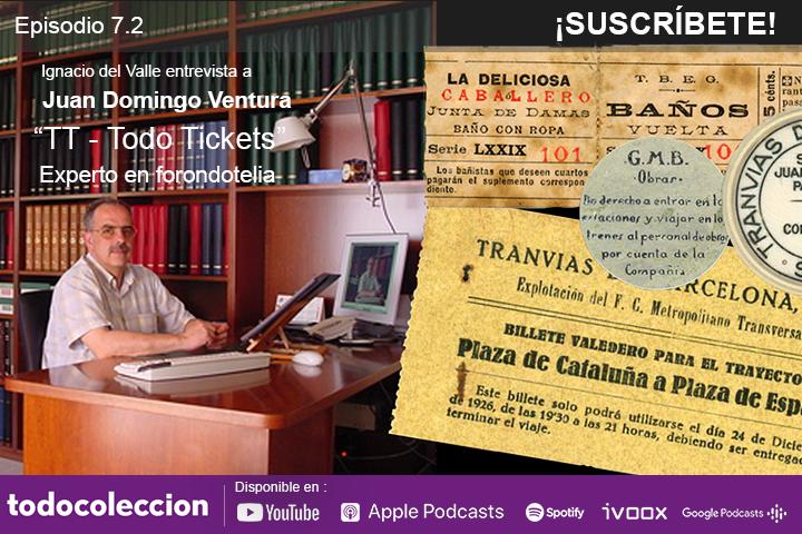 Juan Domingo Ventura, coleccionista de billetes de transporte