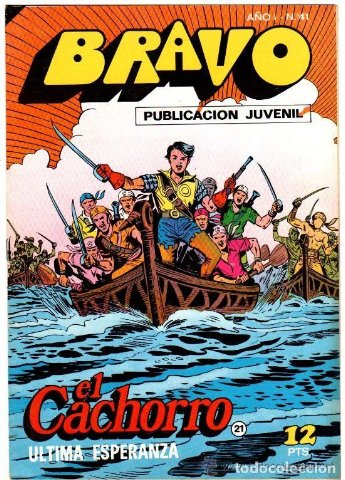 Portada del cómic Bravo, editorial Bruguera