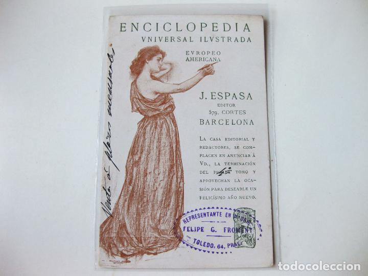 Enciclopedia Universal Ilustrada, postal de Ramón Casas
